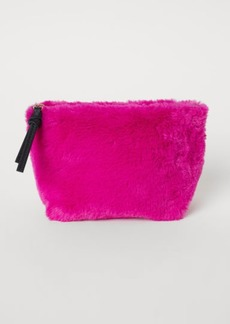 H&M H & M - Faux Fur Makeup Bag - Pink