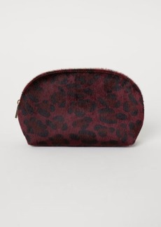 H&M H & M - Faux Fur Makeup Bag - Red