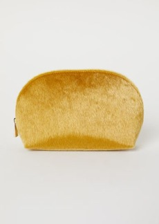 H&M H & M - Faux Fur Makeup Bag - Yellow