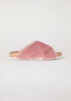 H&M H & M - Faux Fur Slippers - Pink