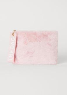 H&M H & M - Faux Fur Toiletry Bag - Pink