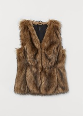H&M H & M - Faux Fur Vest - Beige