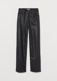 H&M H & M - Faux Leather Pants - Black