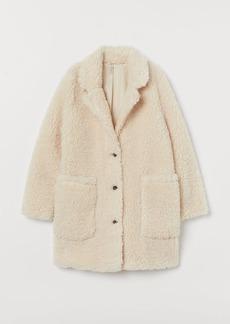 H&M H & M - Faux Shearling Coat - Beige