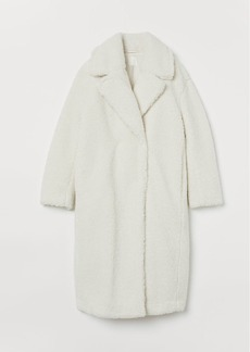 H&M H & M - Faux Shearling Coat - White