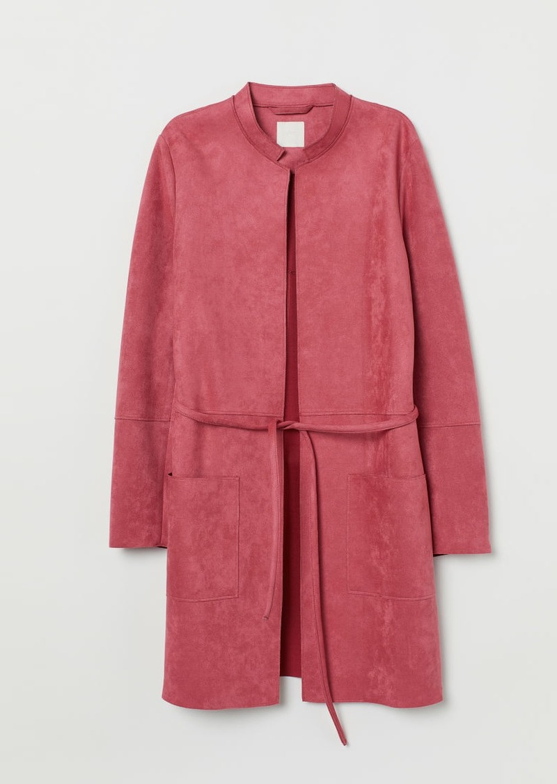 H&M H & M - Faux Suede Coat - Red