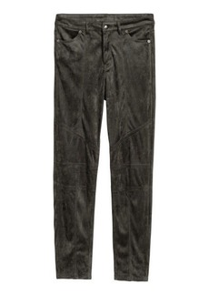 H&M H & M - Faux Suede Pants - Gray