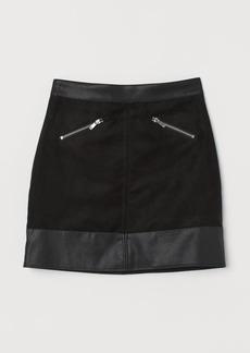 H&M H & M - Faux Suede Skirt - Black