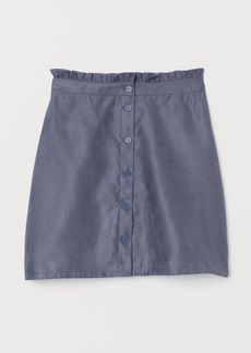 H&M H & M - Faux Suede Skirt - Blue