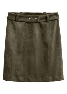H&M H & M - Faux Suede Skirt - Green