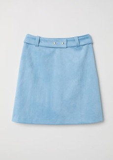 H&M H & M - Faux Suede Skirt - Turquoise