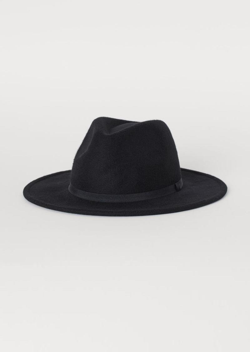 H&M H & M - Felt Hat - Black