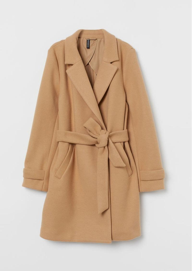 H&M H & M - Felted Coat - Beige