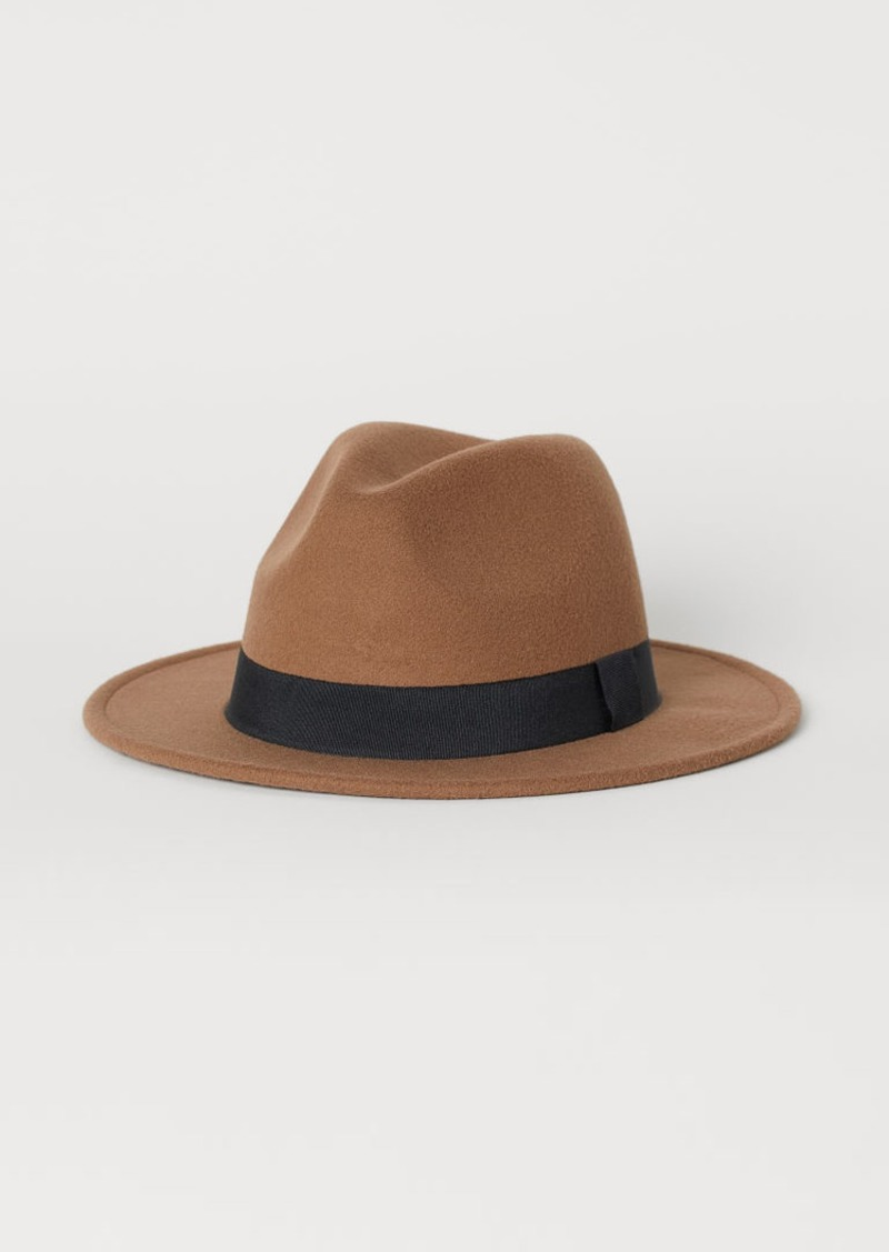 H&M H & M - Felted Hat - Beige