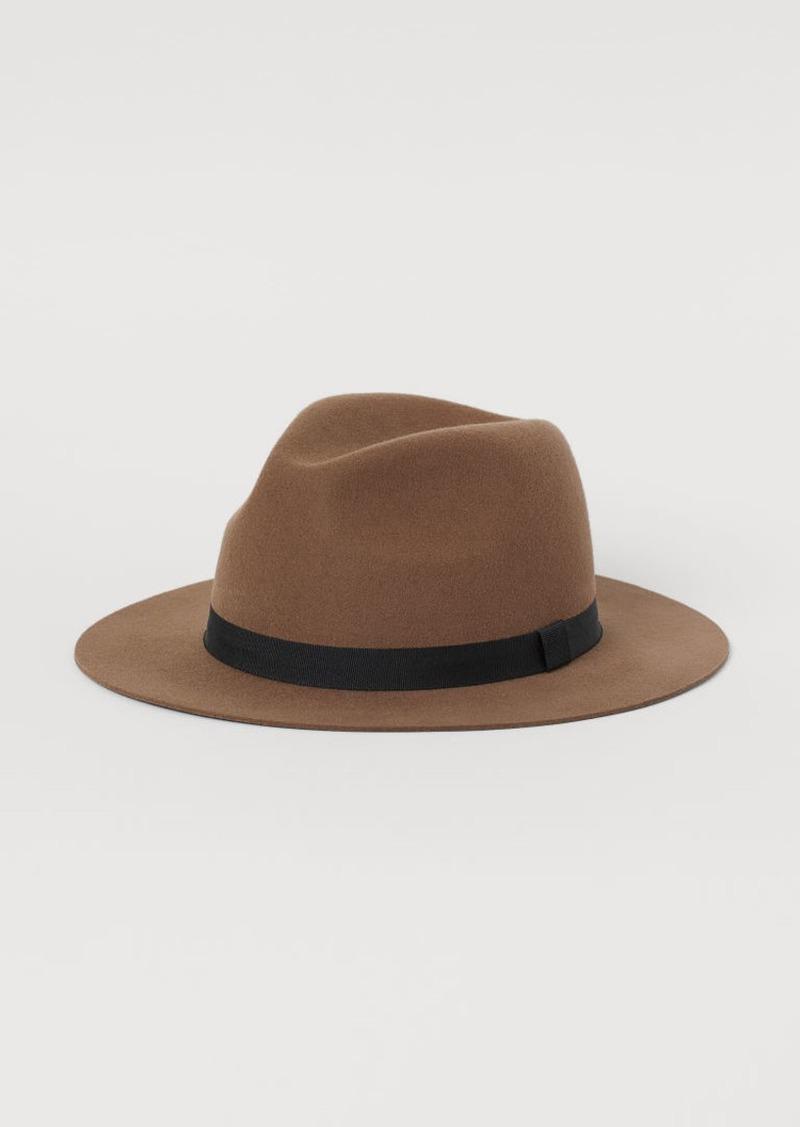 H&M H & M - Felted Wool Hat - Beige