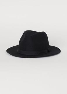 H&M H & M - Felted Wool Hat - Black