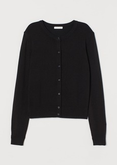 H&M H & M - Fine-knit Cardigan - Black