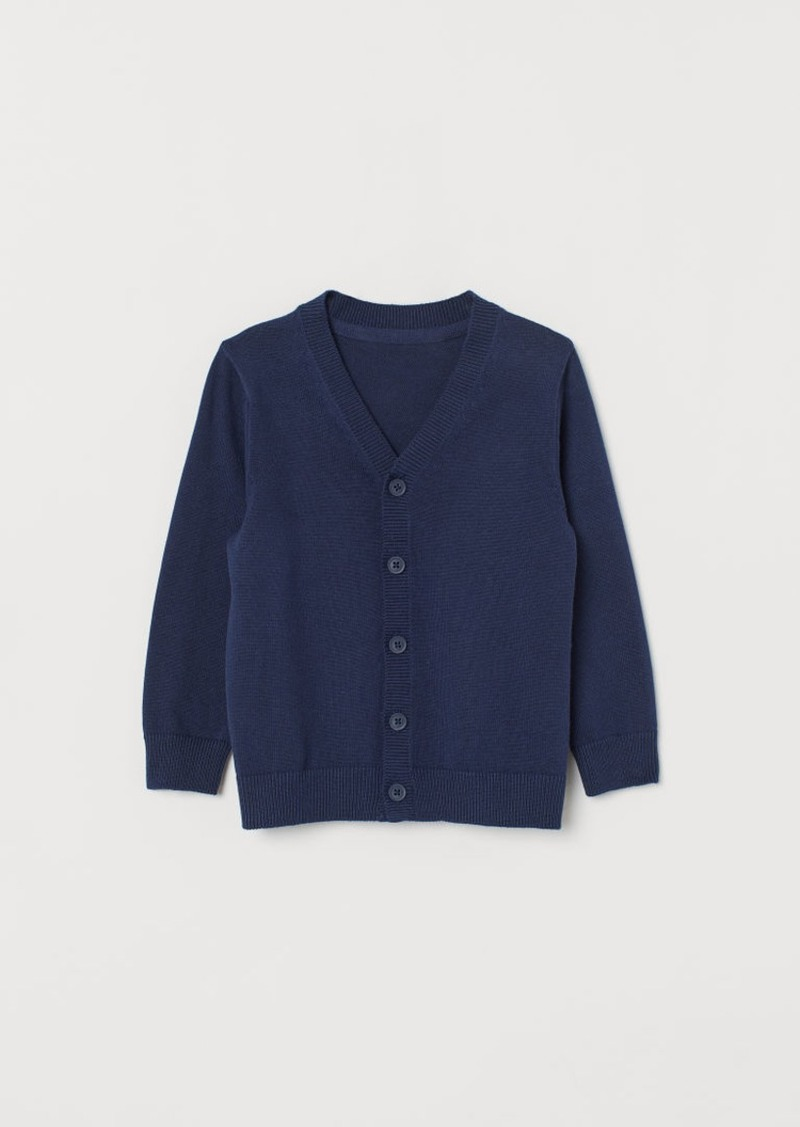 H&M H & M - Fine-knit Cardigan - Blue
