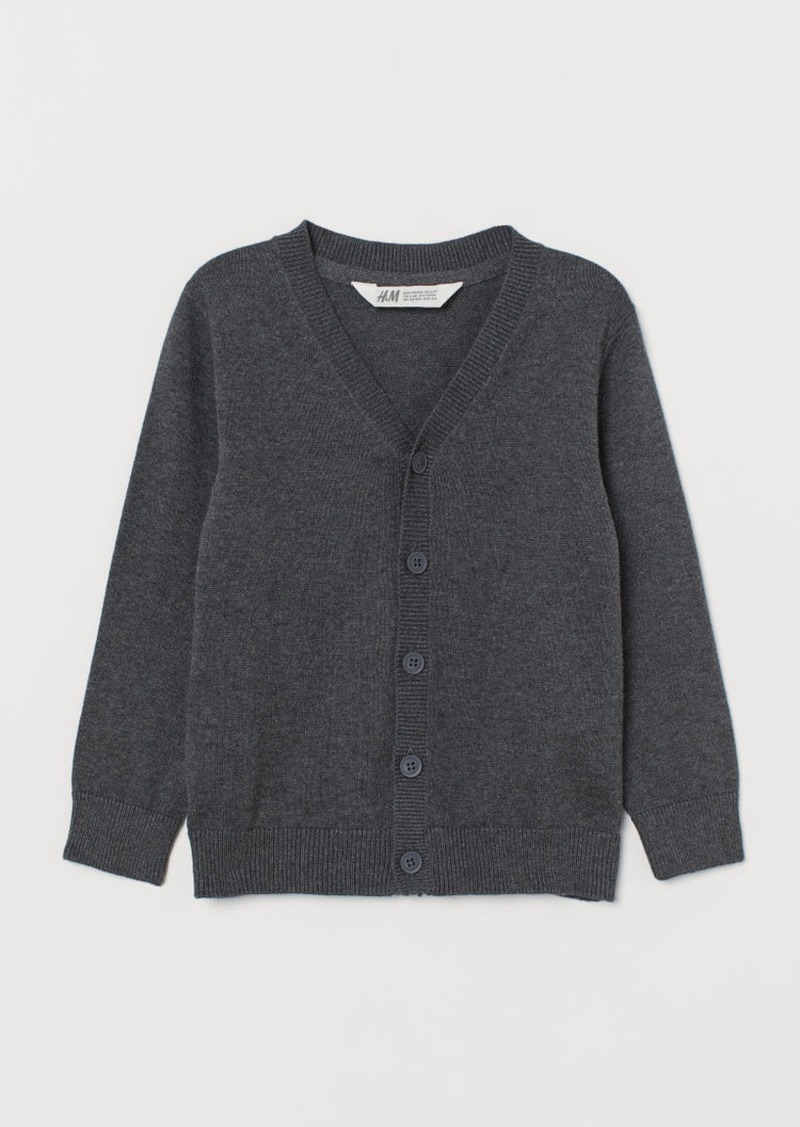 H&M H & M - Fine-knit Cardigan - Gray