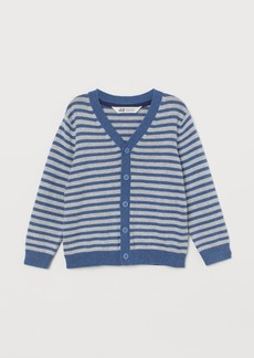 H&M H & M - Fine-knit Cardigan - Gray