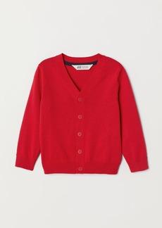 H&M H & M - Fine-knit Cardigan - Red