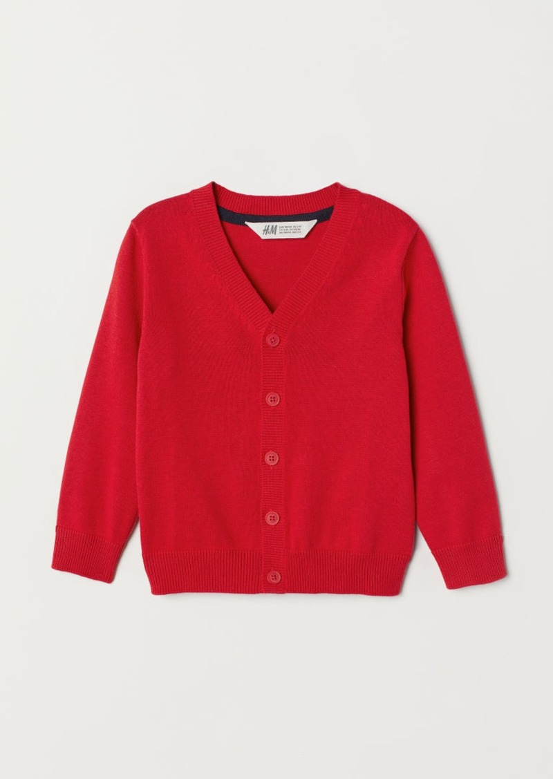 H&M H & M - Fine-knit Cardigan - Red