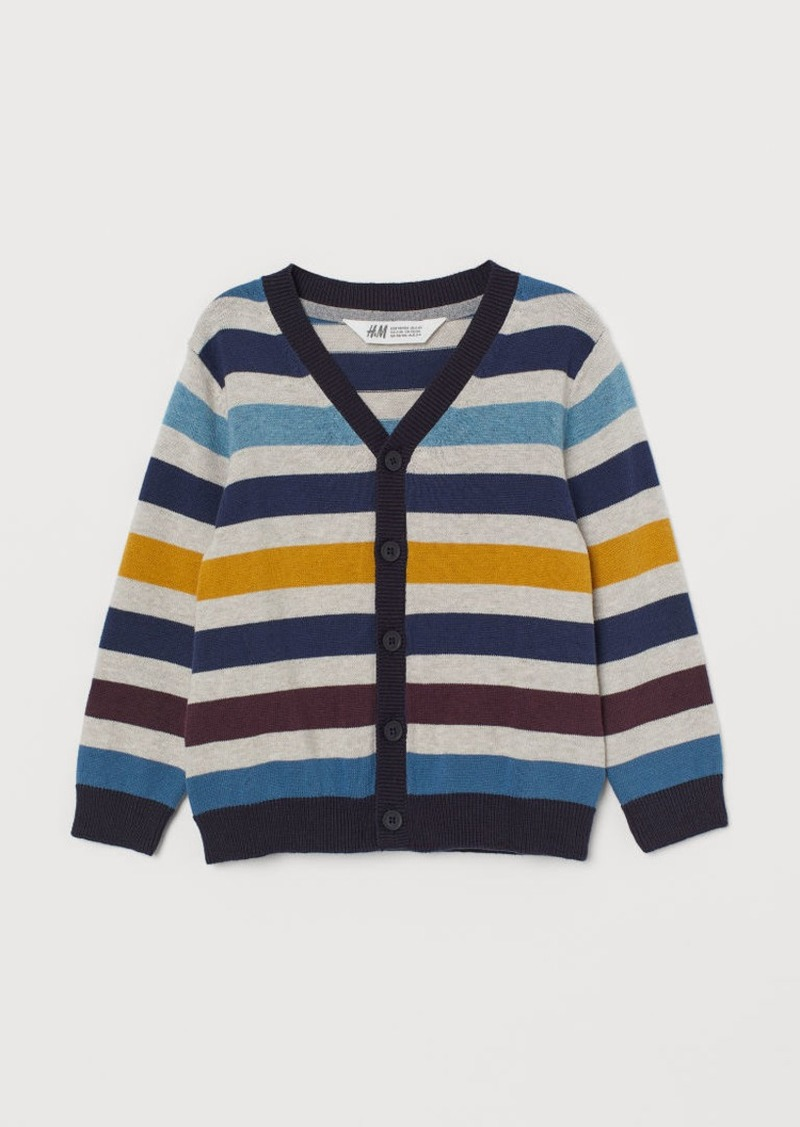 H&M H & M - Fine-knit Cardigan - Yellow