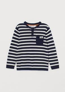 H&M H & M - Fine-knit Cotton Sweater - Blue