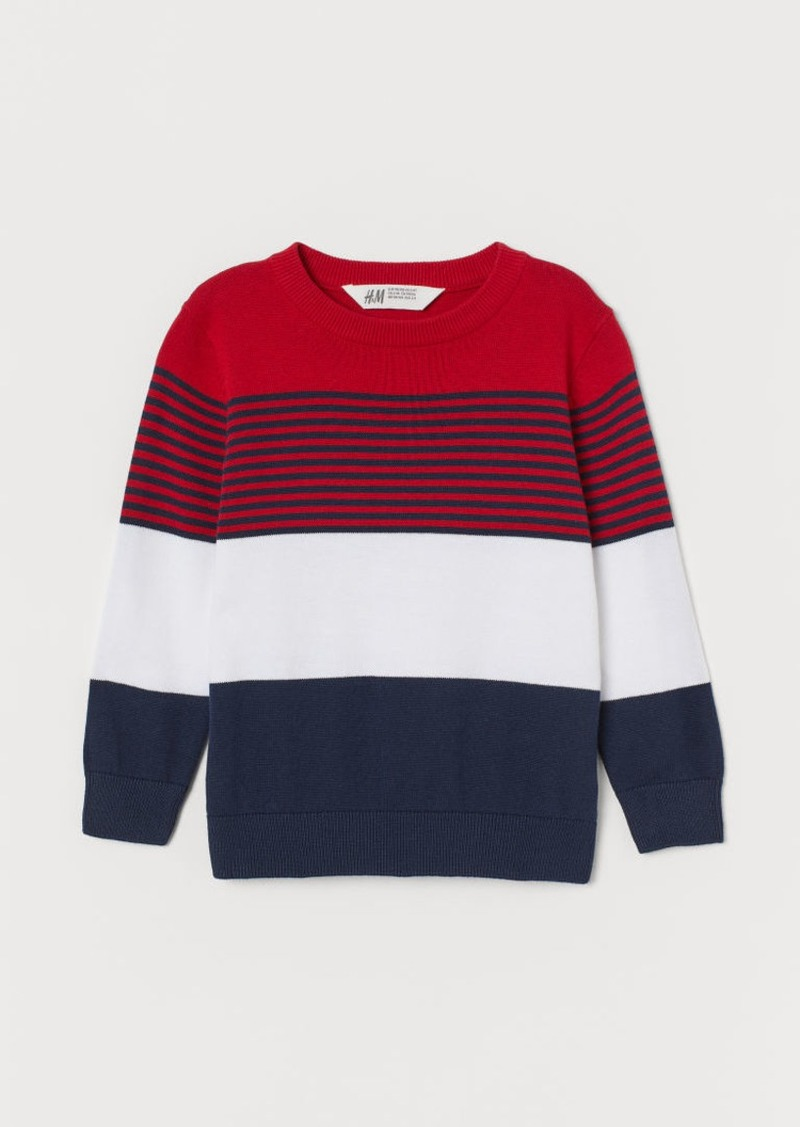 H&M H & M - Fine-knit Cotton Sweater - Red