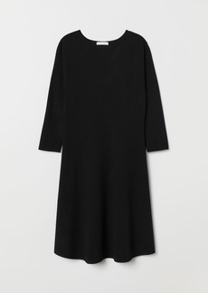 H&M H & M - Fine-knit Dress - Black