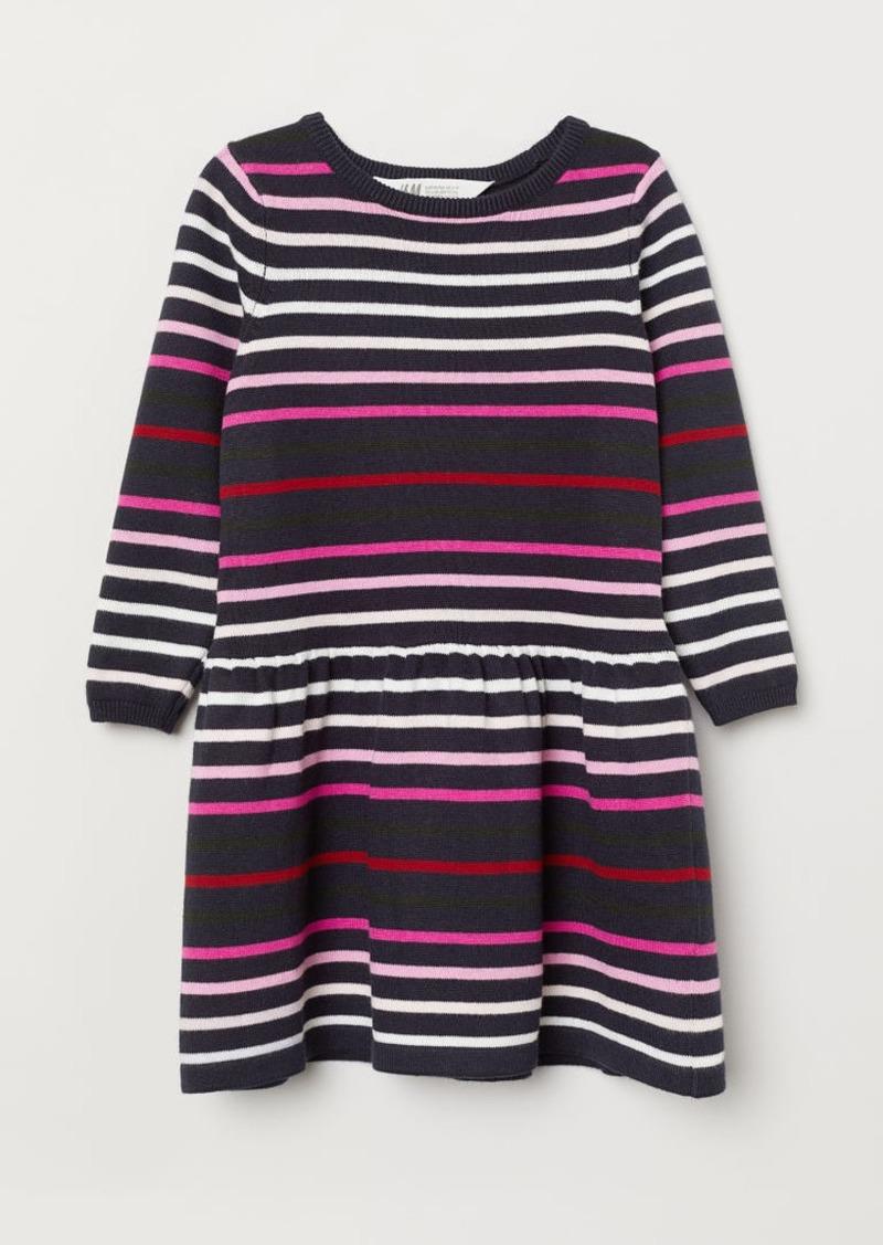 H&M H & M - Fine-knit Dress - Blue