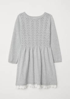H&M H & M - Fine-knit Dress - Gray
