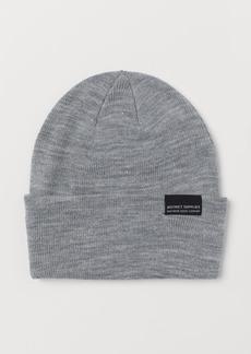 H&M H & M - Fine-knit Hat - Gray
