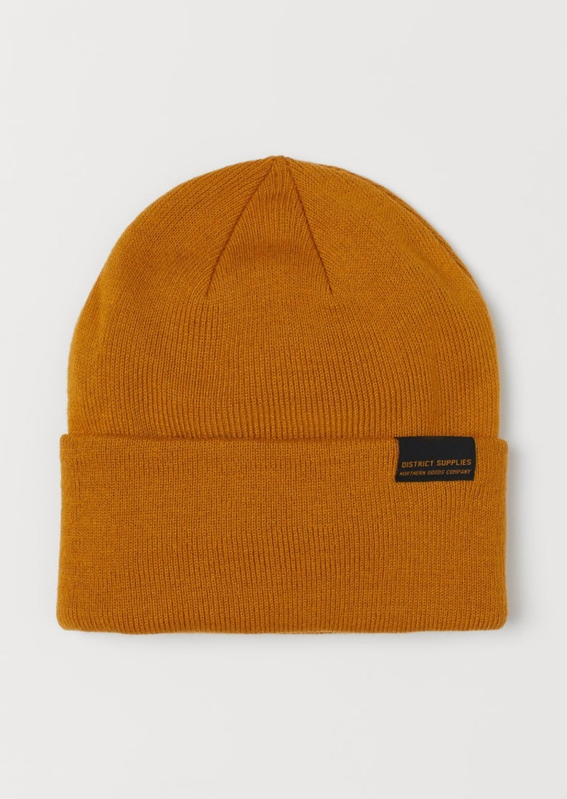 H & M - Fine-knit Hat - Yellow