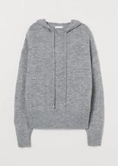 H&M H & M - Fine-knit Hoodie - Gray