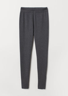 H&M H & M - Fine-knit Joggers - Gray