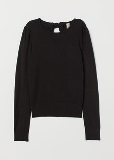 H&M H & M - Fine-knit Sweater - Black