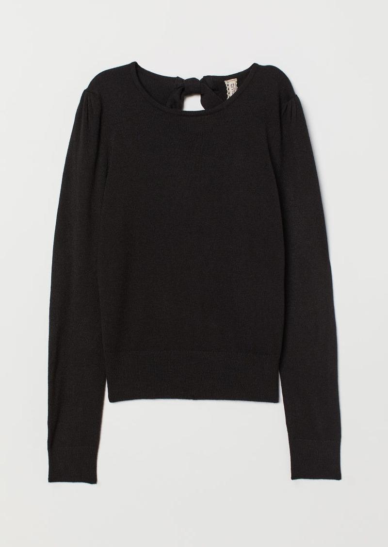 H&M H & M - Fine-knit Sweater - Black