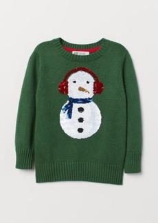H&M H & M - Fine-knit Sweater - Green