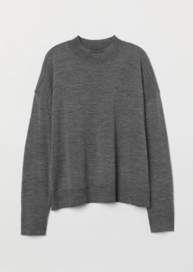 6eea9b8c5c62 On Sale today! H M H   M - Fine-knit Merino Wool Sweater - Gray
