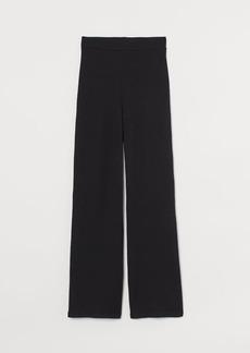 H&M H & M - Fine-knit Pants - Black
