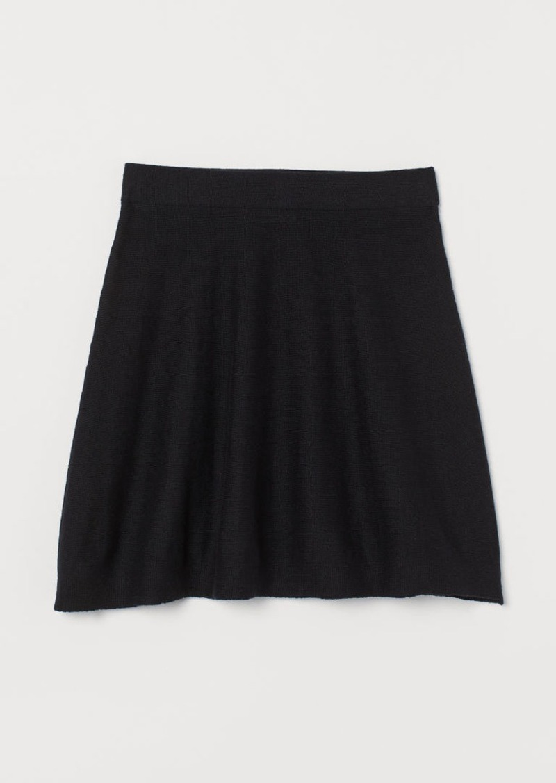 H&M H & M - Fine-knit Skirt - Black