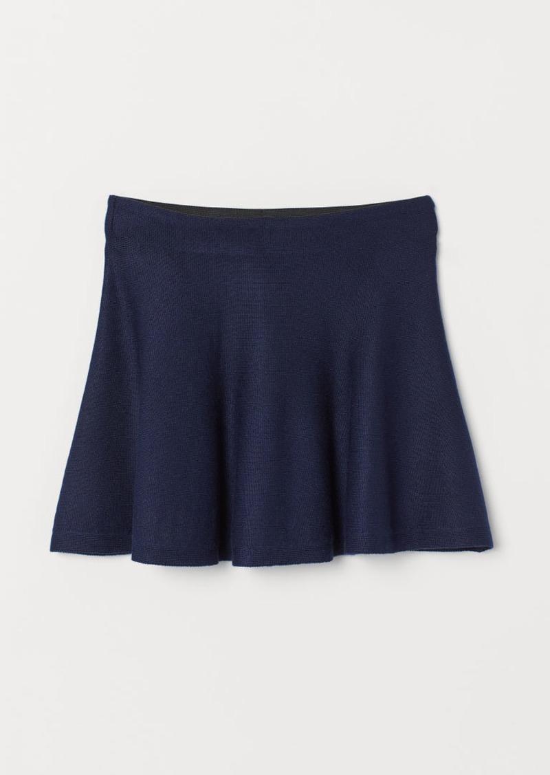 H&M H & M - Fine-knit Skirt - Blue