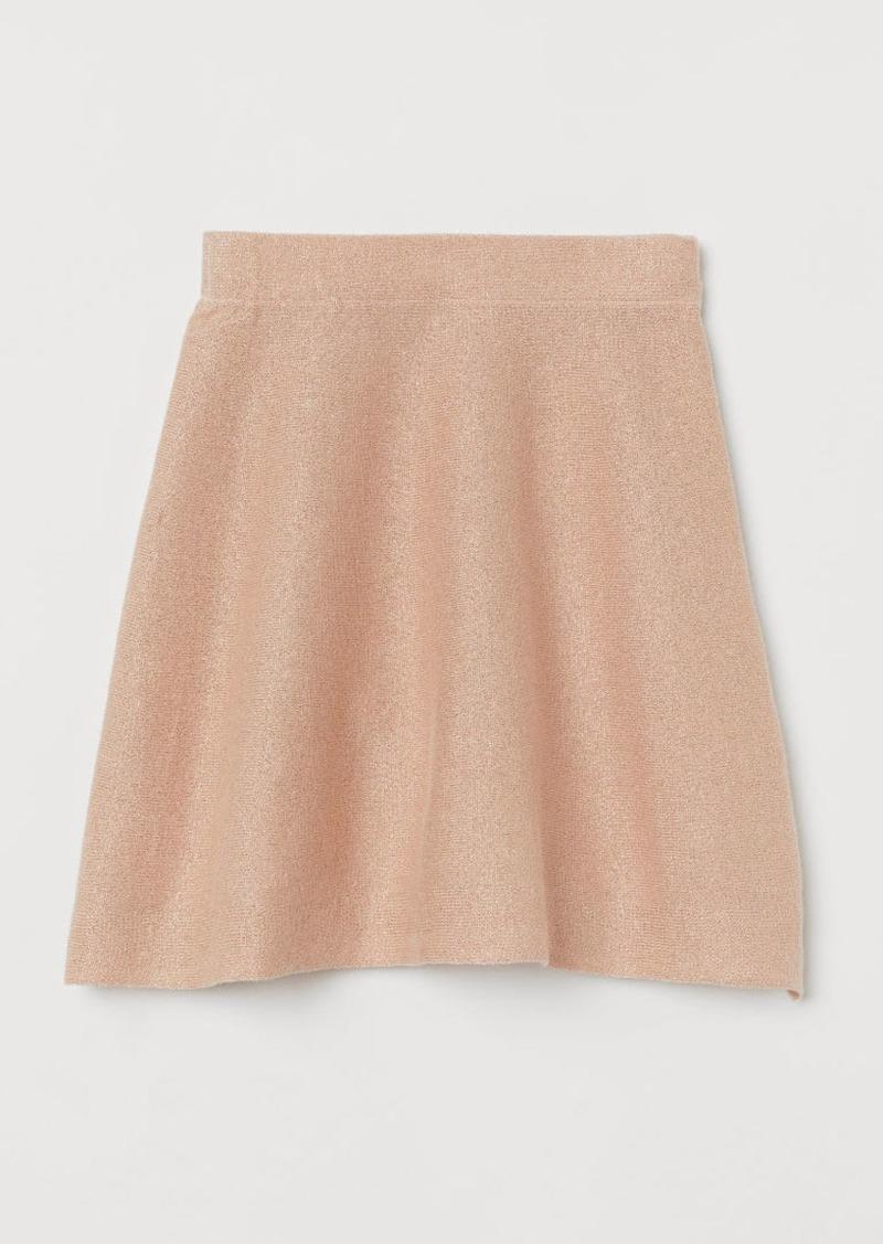 H&M H & M - Fine-knit Skirt - Pink