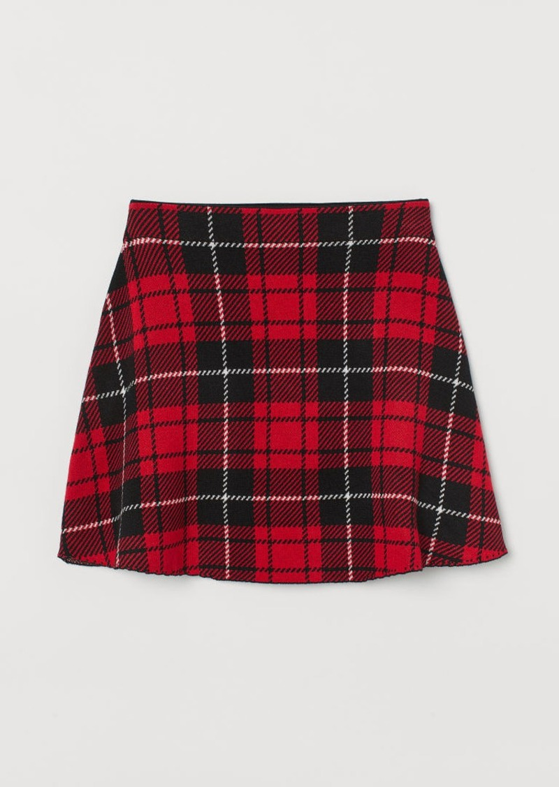 H&M H & M - Fine-knit Skirt - Red
