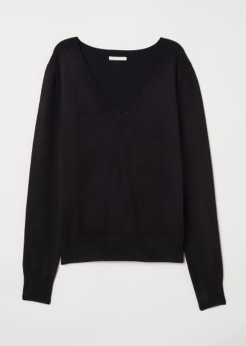 af04a7e28bee H&M H & M - Fine-knit Sweater - Black | Sweaters
