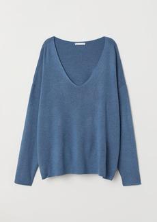 H&M H & M - Fine-knit Sweater - Blue