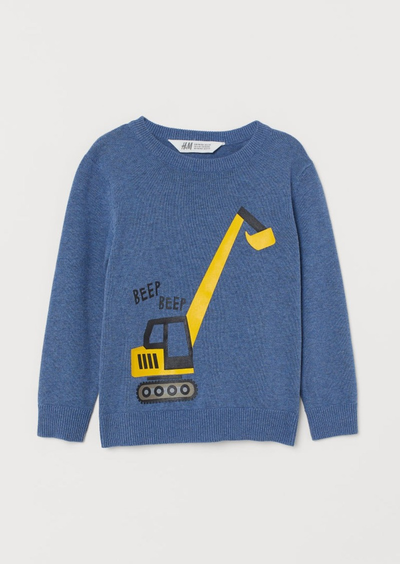 H&M H & M - Fine-knit Sweater - Blue