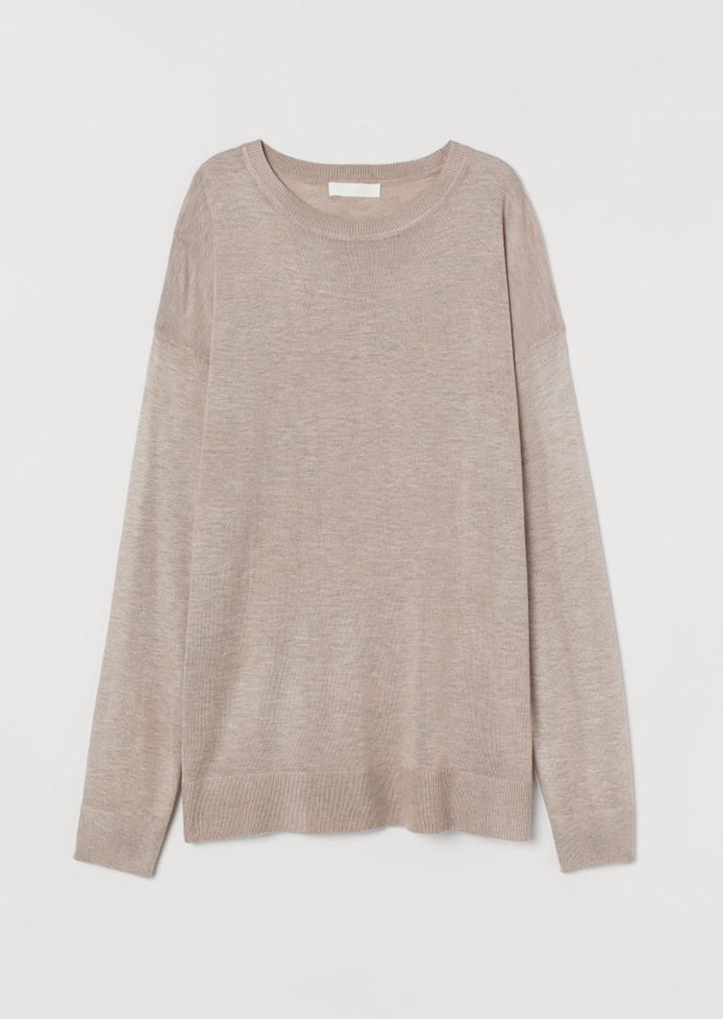 H&M H & M - Fine-knit Sweater - Brown