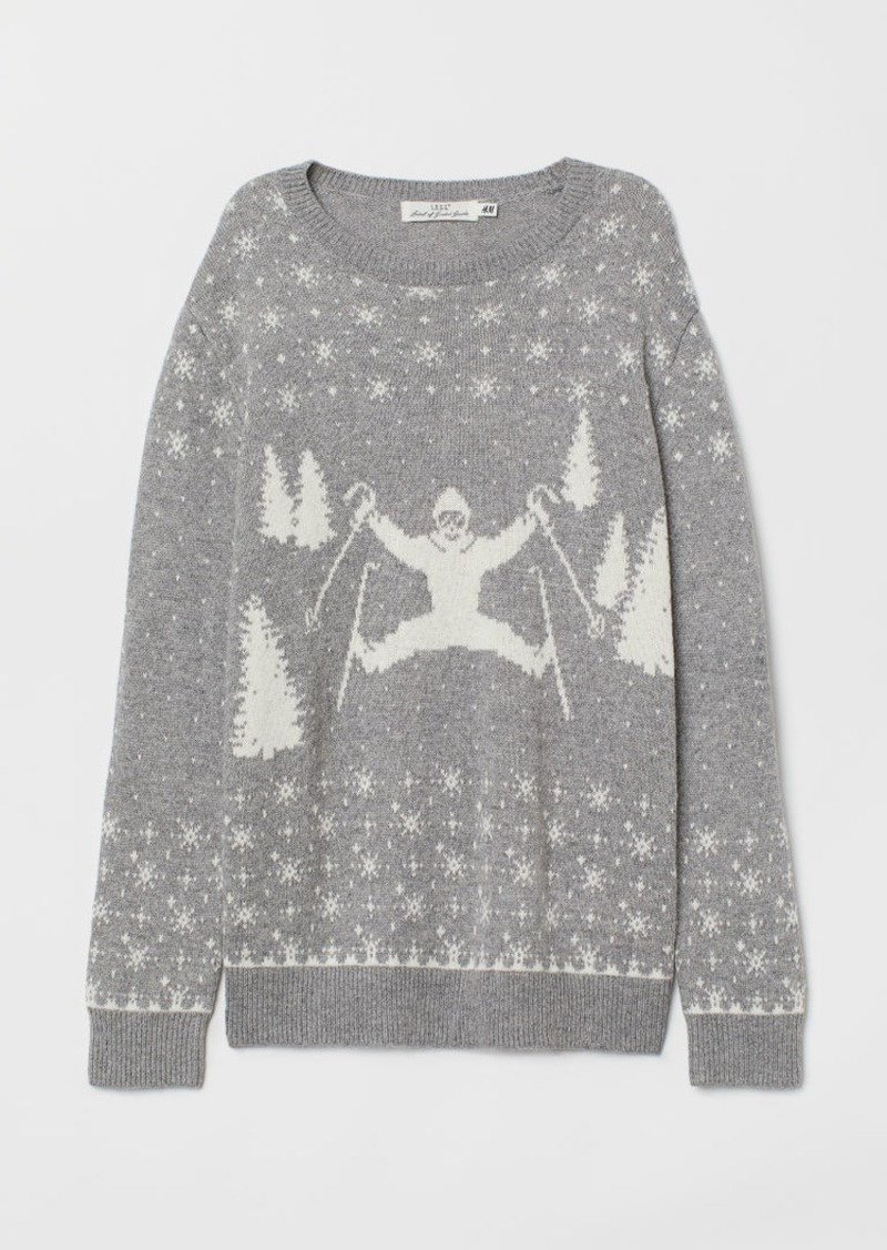 H&M H & M - Fine-knit Sweater - Gray